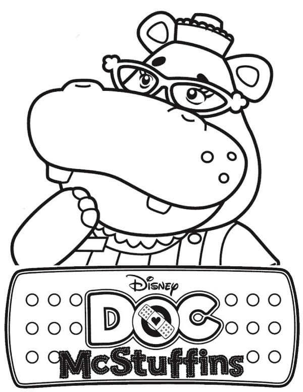 600x776 Hallie The Hippo Of Doc Mcstuffins Coloring Page