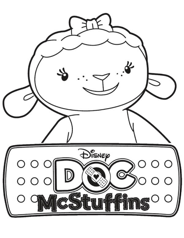 600x776 Lambie The Lamb In Doc Mcstuffins Coloring Page