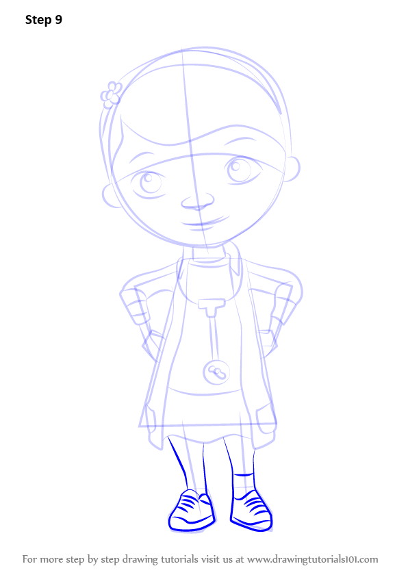 596x843 Learn How To Draw Doc From Doc Mcstuffins (Doc Mcstuffins) Step By