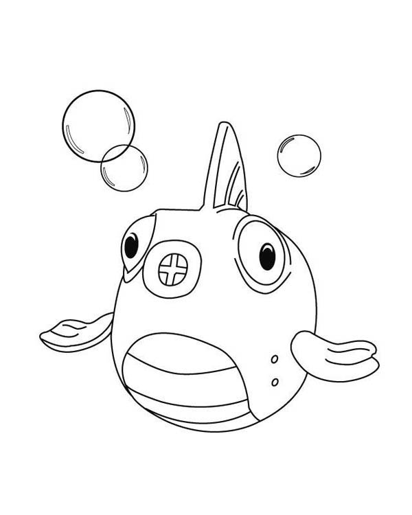 600x750 Squakers The Fish In Doc Mcstuffins Coloring Page