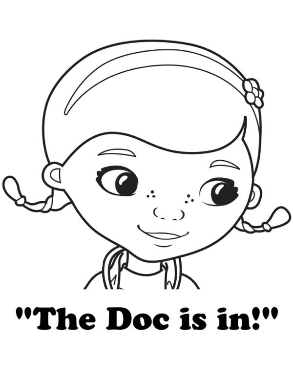 600x776 The Doc Is In Doc Mcstuffins Coloring Page