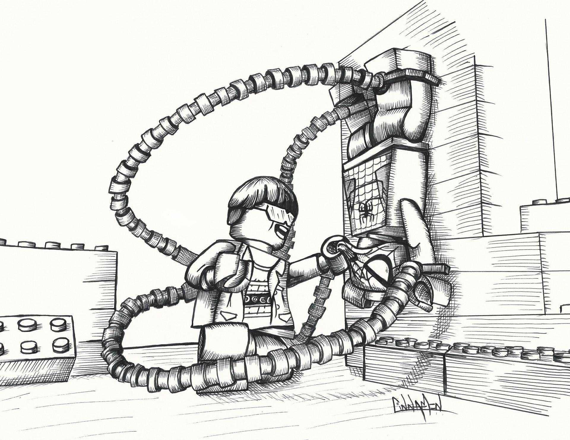 kleurplaat doctor octopus kidkleurplaat nl