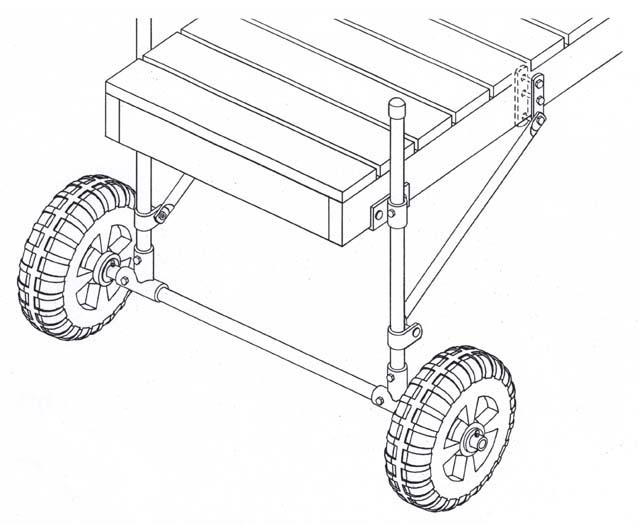 639x525 Dock Installation Wheels Move Docks Over Rough Terrain