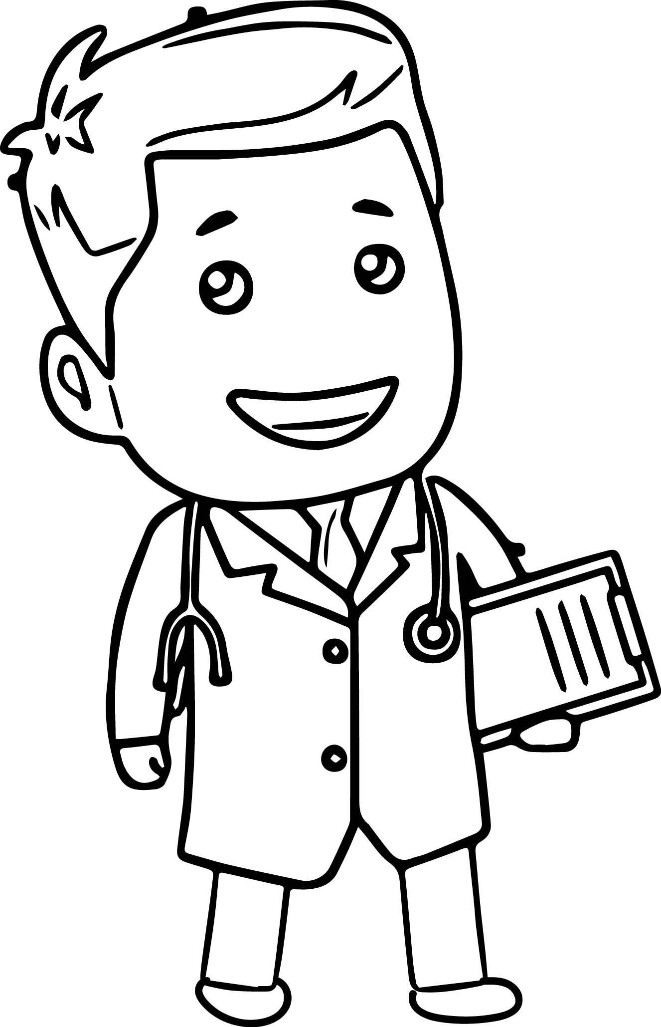 1326x2058 Doctor Tools Clipart Cartoon Coloring Page Wecoloringpage