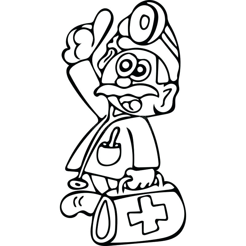 800x800 Doctor Tools Coloring Page Doctor Coloring Pages For Kids Medical