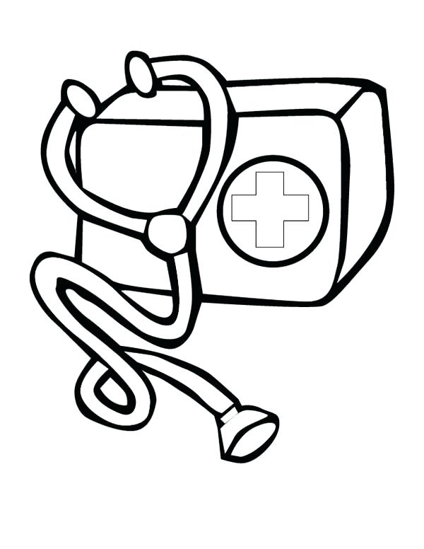 600x776 Medical Coloring Pages Doctor Bag Kit Page