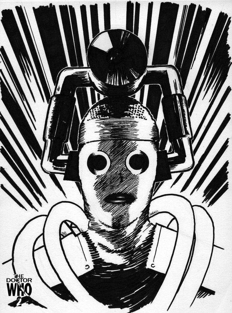 769x1038 Doctor Who Cyberman Comic Drawing 1 By Thedoctorwho2