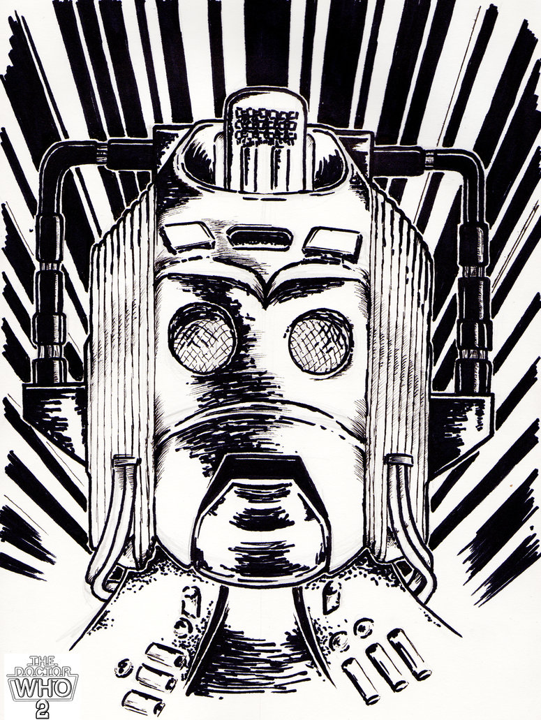 775x1031 Doctor Who Cyberman Comic Drawing 2 By Thedoctorwho2