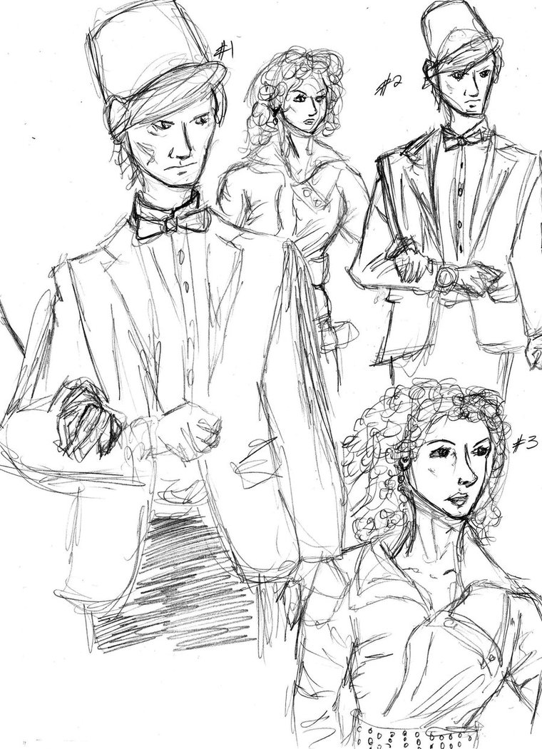 760x1050 Doctor Who Practice Sketches 1 By Jaded Silver Raven