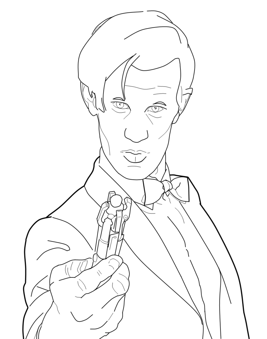 900x1140 Doctor Who 11 Lineart By Radiostar747