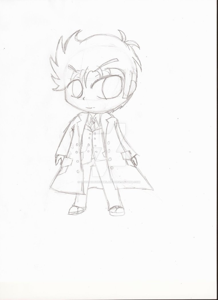 762x1048 Chibi 10th Doctor Doctor Who (Sketch) By Crystalthetimelady