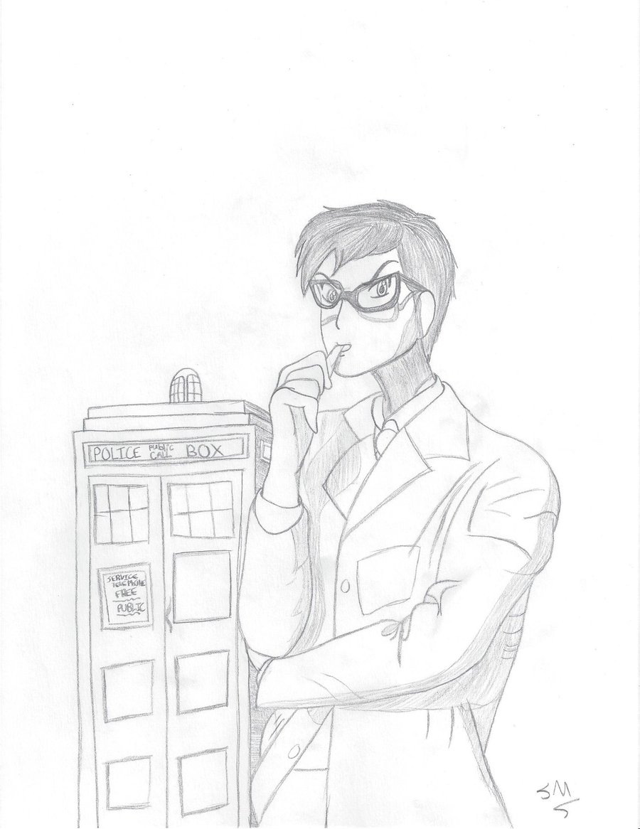 900x1166 Tenth Doctor Anime Sketch By Cosplayingnerd