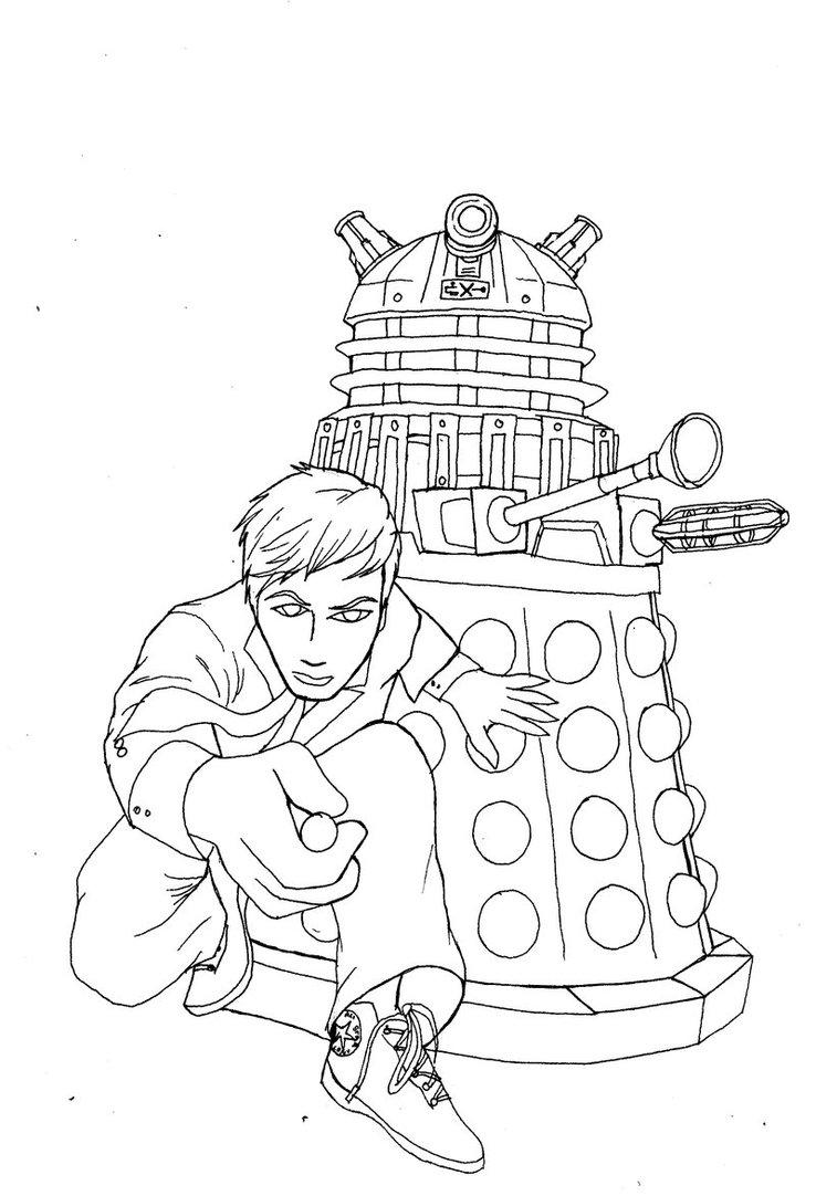 738x1082 Dalek X And The Doctor By Dalekmercy