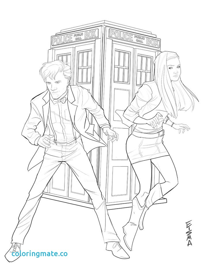 Doctor who tardis drawing at free for for Tardis coloring pages