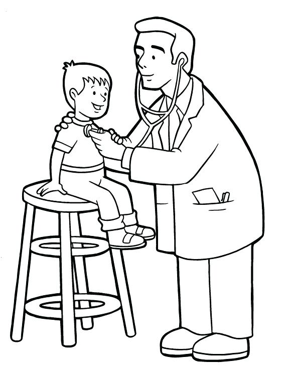 564x729 Doctor For Coloring Jobs Kids Doctors Hospitals