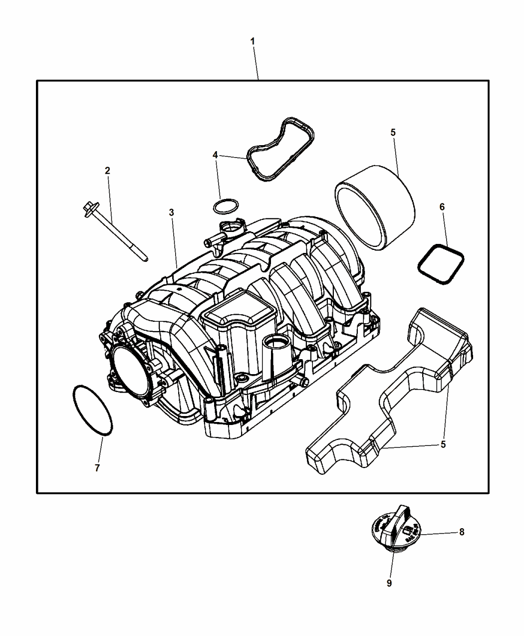 Dodge Challenger Drawing At Free For Personal Use Hellcat Engine Diagram 1050x1275 Intake Manifold 2015 Mopar Parts Giant