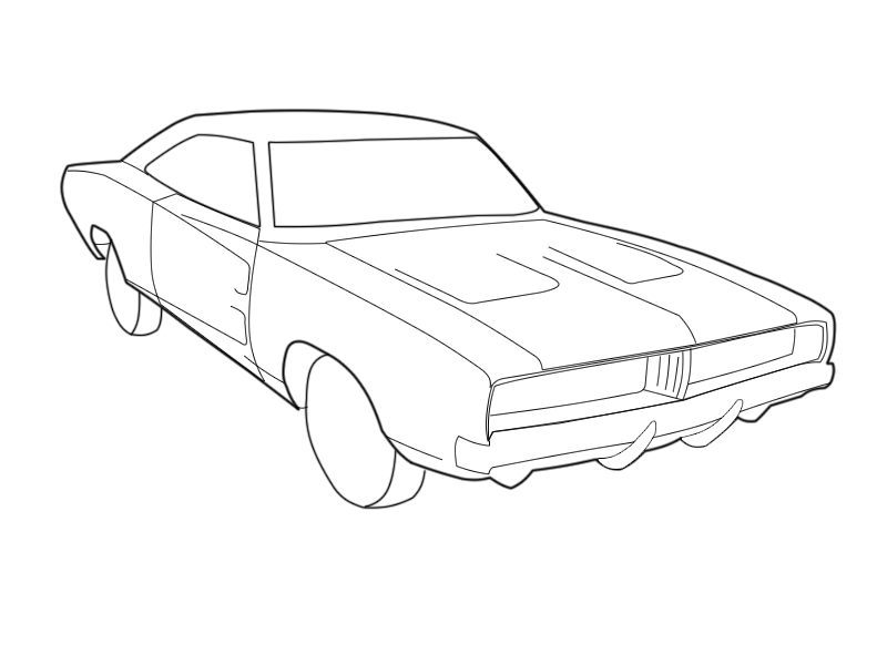800x600 69 Charger Coloring Pages Muscle Car Coloring Pages