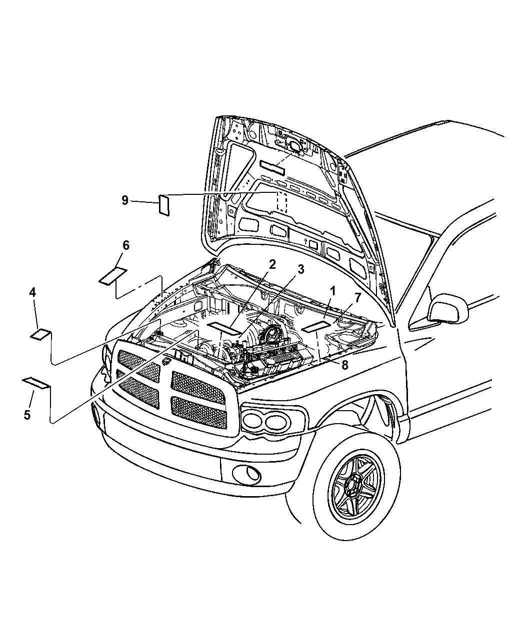 1050x1275 Engine Compartment For 2007 Dodge Ram 1500 Mopar Parts Giant