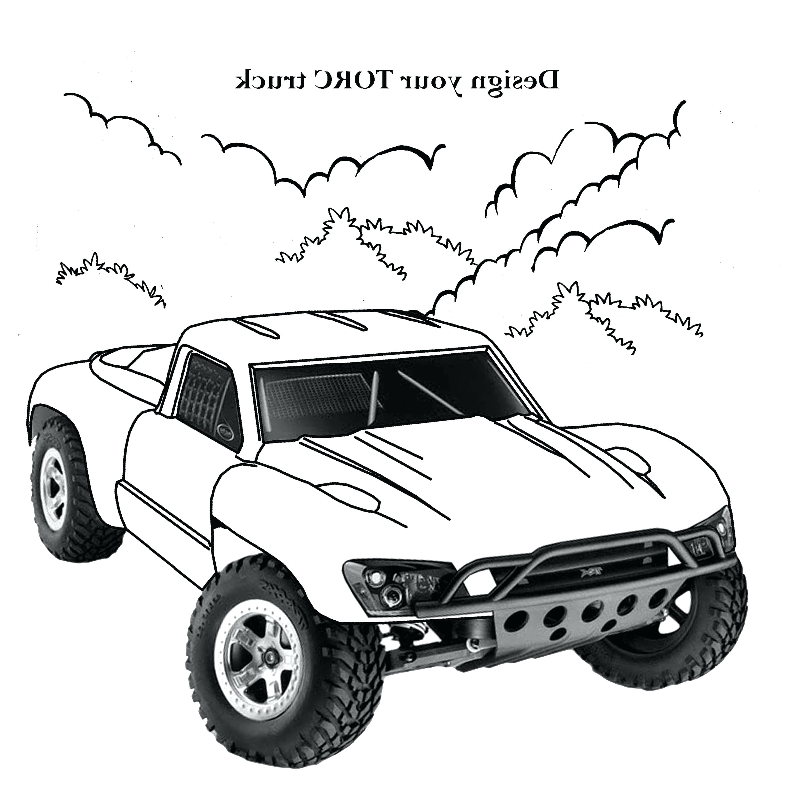 Dodge truck drawing at free for personal for Coloring pages cars and trucks