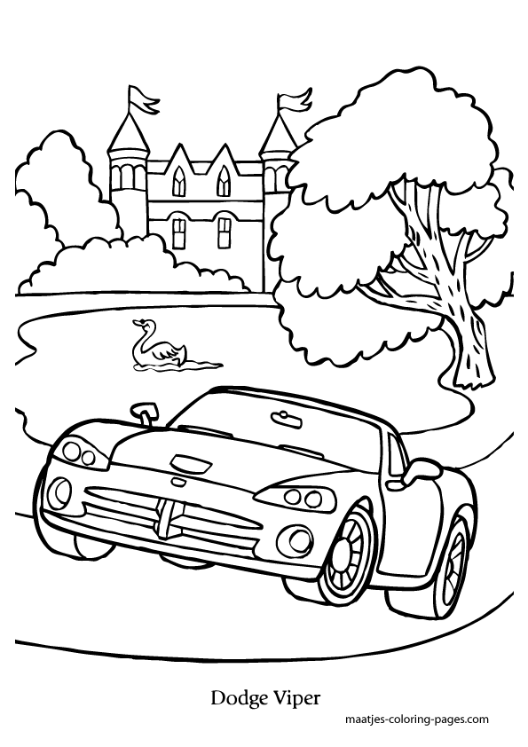 595x842 Dodge Viper Coloring Pages