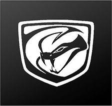 225x212 6 X 5 58 Dodge Viper Logo Gloss Black Vinyl Decal Best Quality