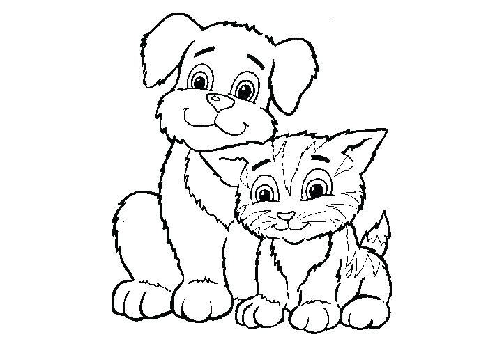 700x500 Dogs And Cats Coloring Pages Big Cat Coloring Pages Coloring Pages