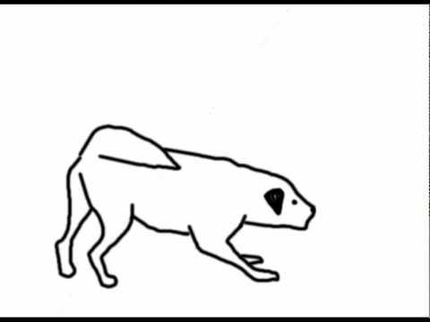 480x360 Animation Of A Dog Barking (Line Test)