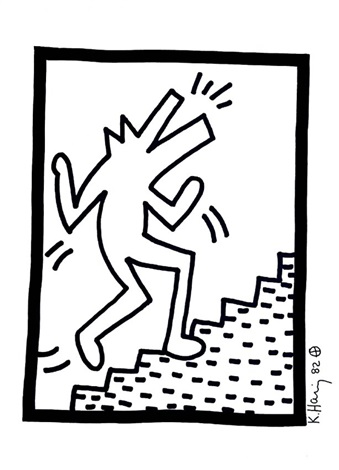 339x470 Barking Dog Climbing Stairs By Keith Haring On Artnet