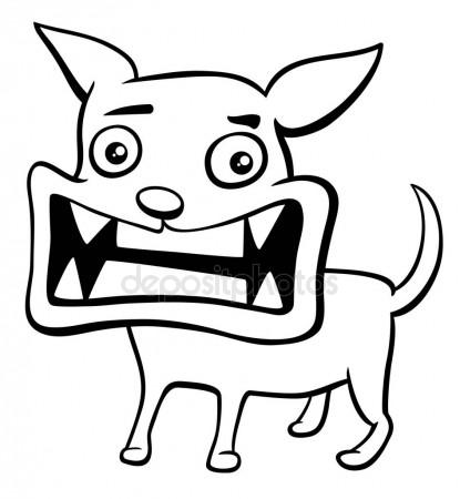 415x450 Barking Angry Dog Stock Vector Prawny
