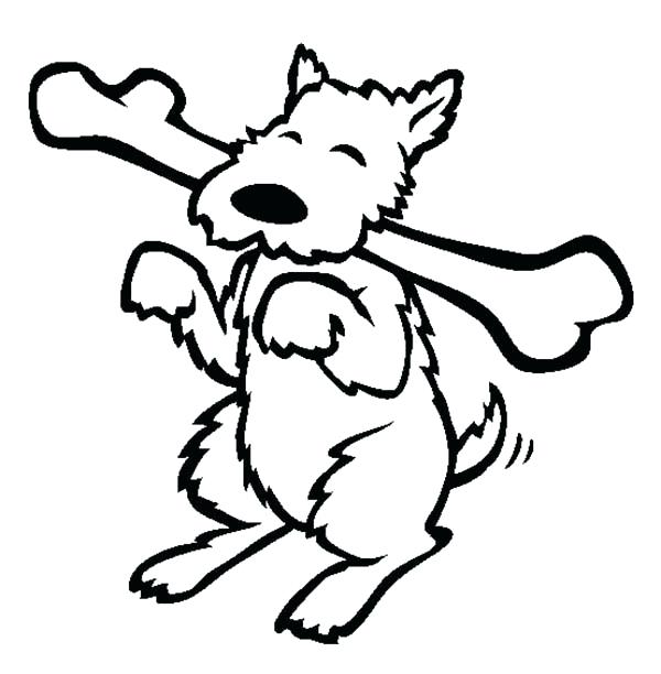 600x612 Dog Bones Coloring Pages Happy Dog Eating Long Bone Coloring Page