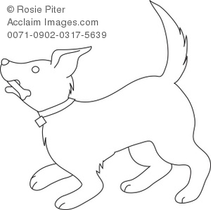 300x298 Dog With A Bone In It's Mouth Coloring Page Royalty Free Clip Art
