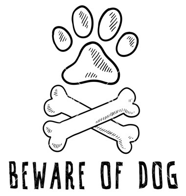 380x400 Doodle Pet Dog Beware Of Dog Bone Paw Print Vector Inspiration