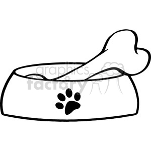 300x300 Royalty Free Royalty Free Rf Copyright Safe Dog Bowl With Big Bone