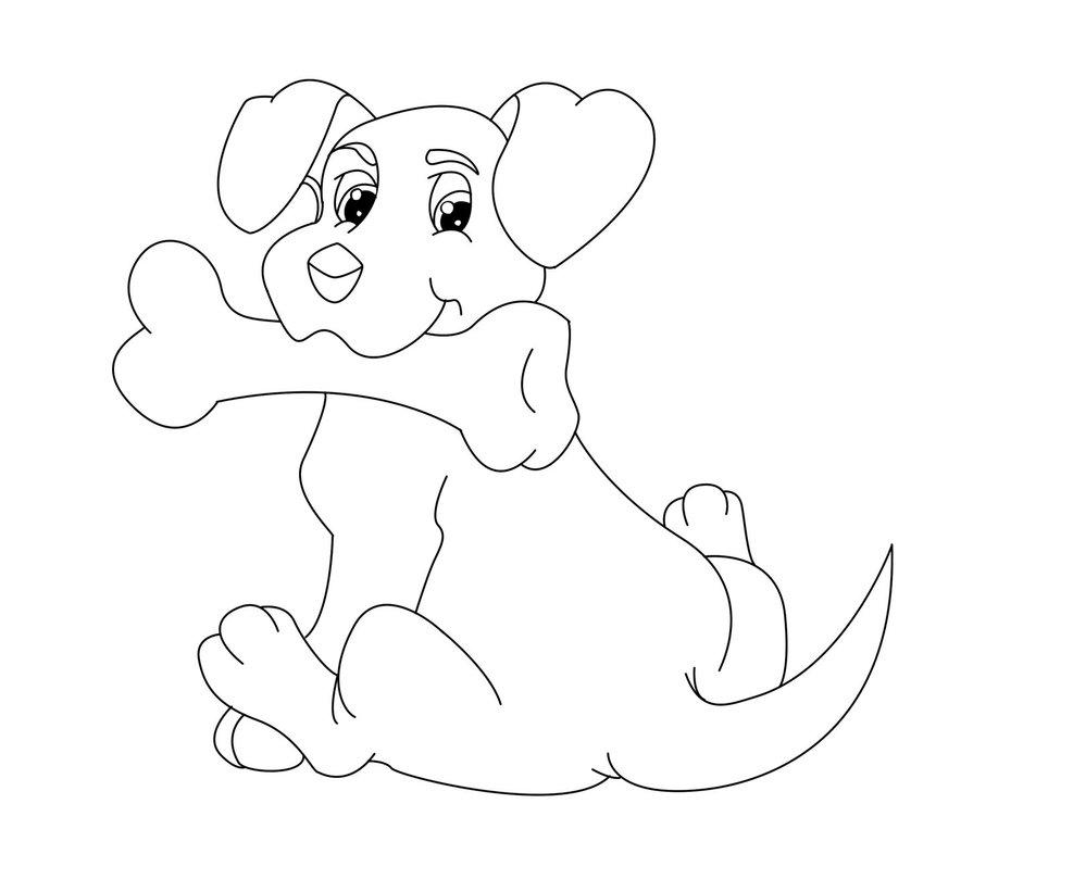 Dog Bone Drawing At GetDrawings