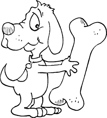 365x400 Dog Bone Coloring Page Pages Org