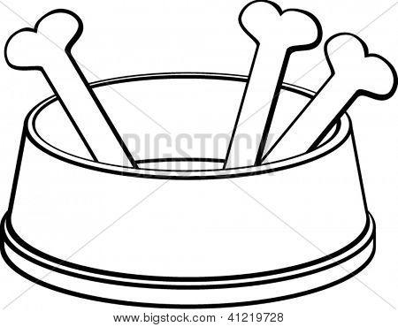 450x370 Dog Bone In Bowl Clipart