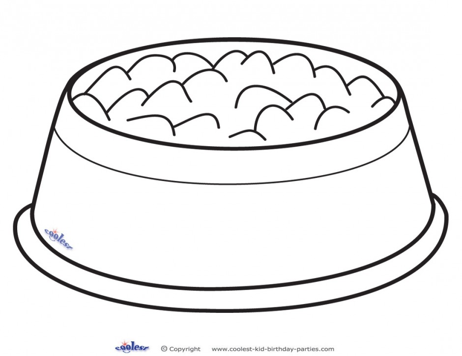 940x726 Dog Bowl Coloring Page