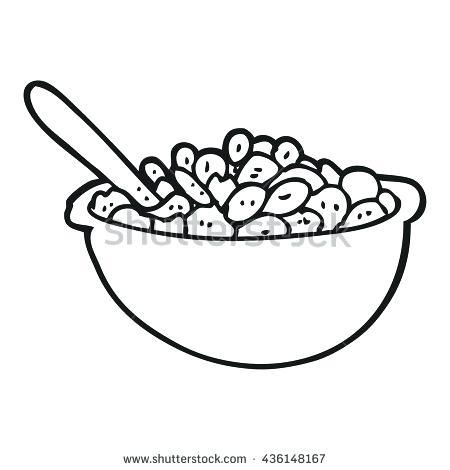 450x470 Black And White Bowl Freehand Drawn Black And White Cartoon Bowl