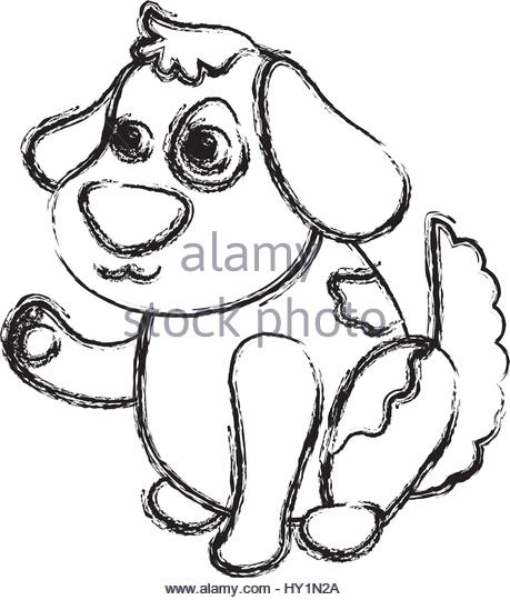 459x540 Dog Cartoon Drawing Sitting Vector Stock Photos Amp Dog Cartoon