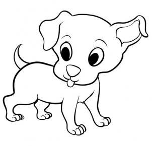 302x290 Drawing Of A Cartoon Dog