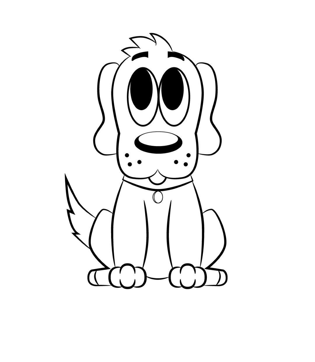 1080x1239 How To Draw A Cartoon Dog Cartoon And Tutorials
