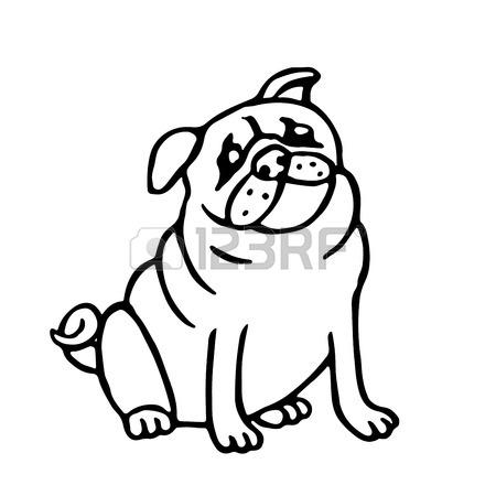 450x450 Pomeranian Cute Dog. Vector Illustration. Funny Cartoon Fur Pet