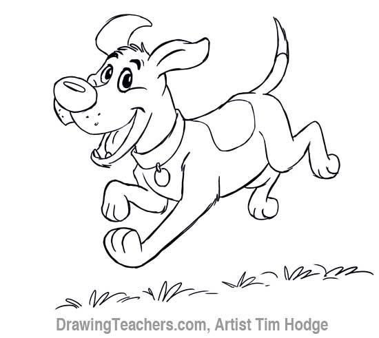 550x491 Cartoon Dog