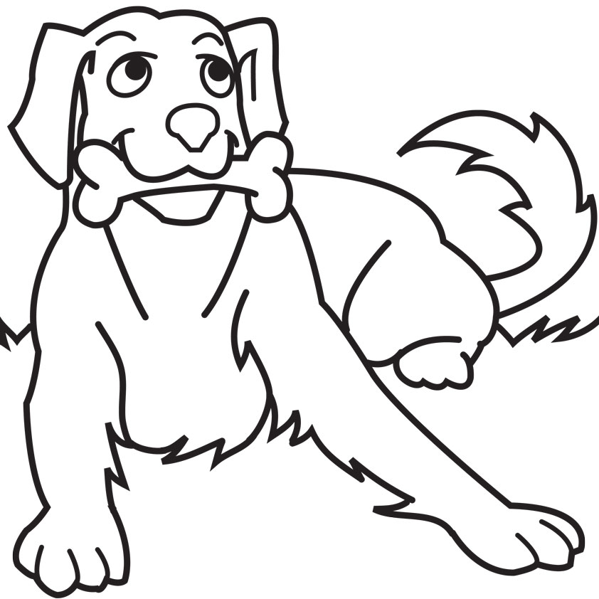 842x842 Dog Clipart Coloring Pages