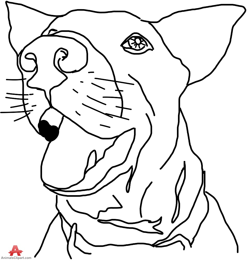 945x999 Outline Drawing Of A Dog Dog Outline Face Drawing Free Clipart