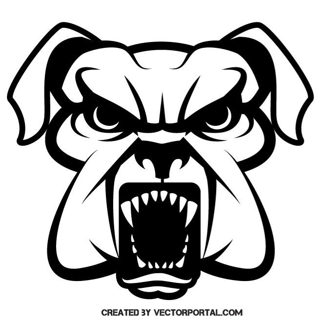 660x660 Rabid Dog Vector Drawing