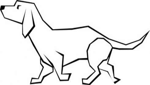 490x280 Simple Dog Clipart