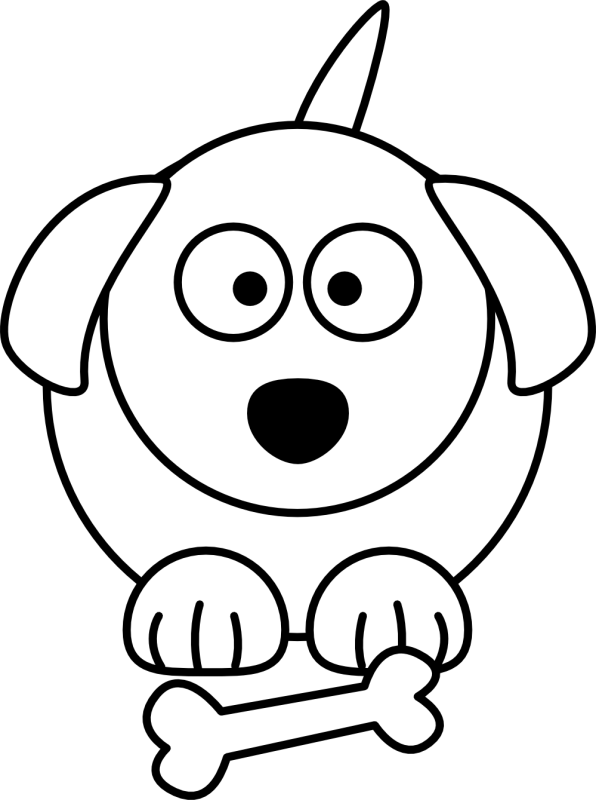596x800 Dog Clipart Drawing
