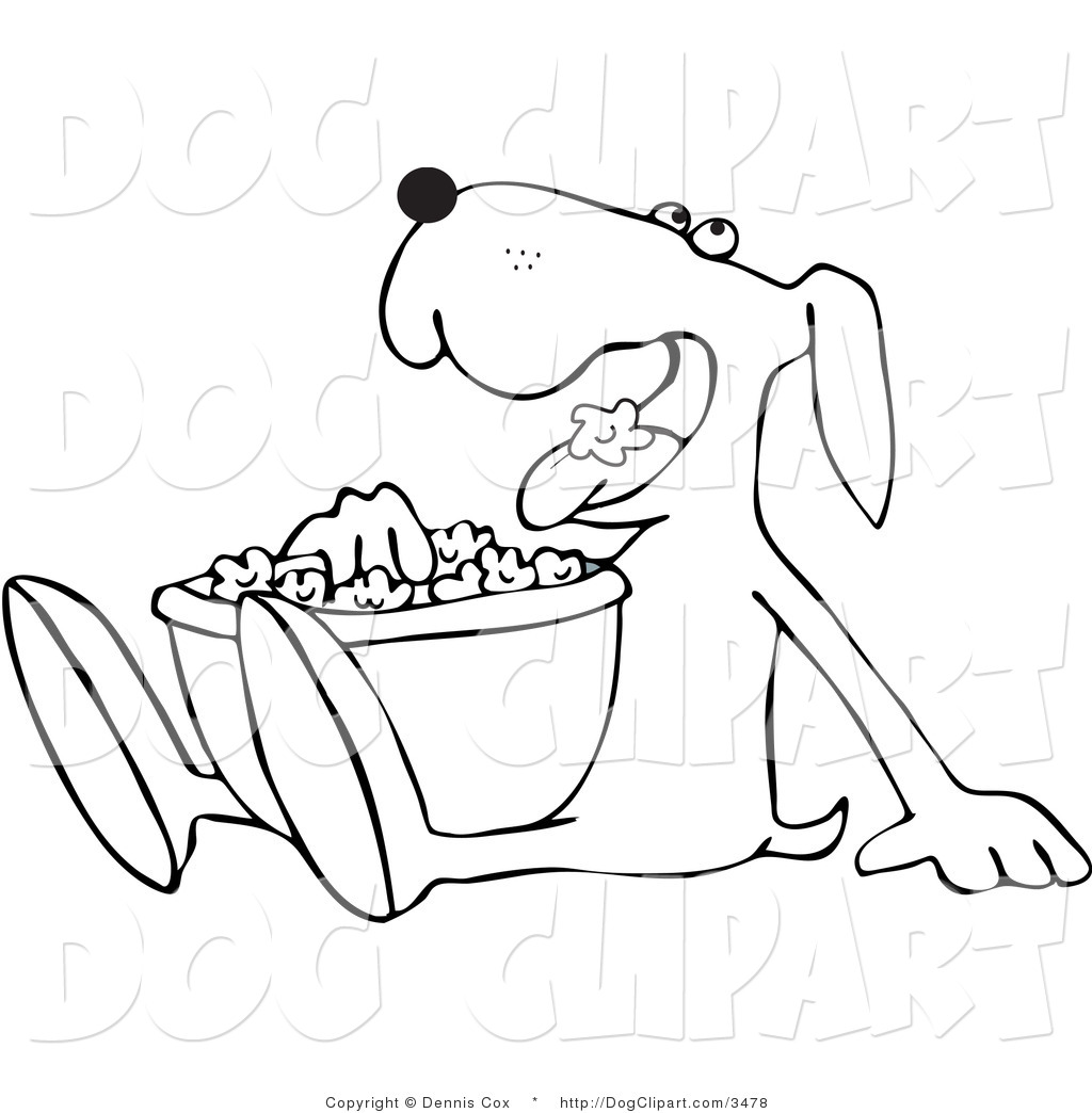1024x1044 Drawings Of Dogs Outlined Dog Munching On Popcorn Dog Clip Art