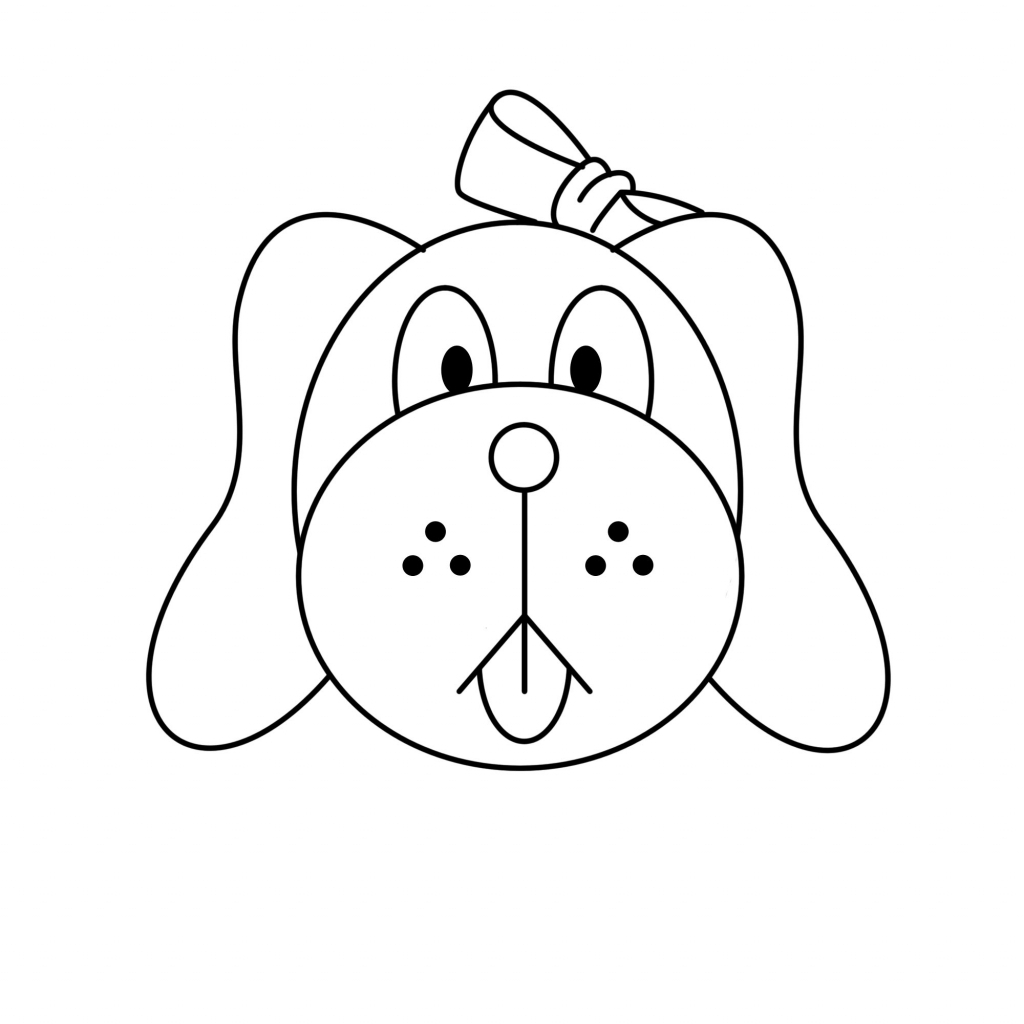 1024x1024 Easy Dog Drawing For Kids Draw A Dog For Kids